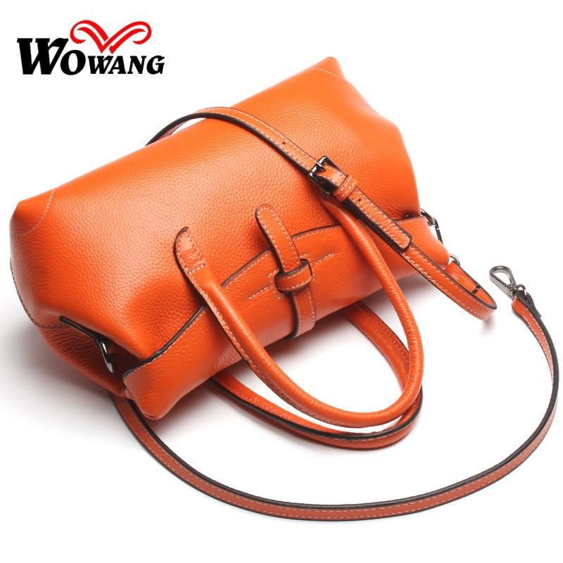 ФОТО 2016 Newest Genuine Leather Handbag Messenger Bags Women Leather Handbag 100% natural Cowhide Tote Ladies Crossbody Shoulder Bag