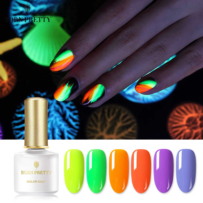 BORN PRETTY Fluorescence Neon Gel Polish 6ml Summer Series Fluorescent Green Yellow Colors Soak Off UV Gel Varnish Nail Art Gel