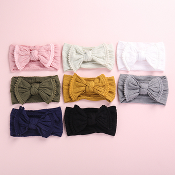 12 ชิ้น/ล็อตผสมสีเด็กผู้หญิง Bows ไนลอน Headbands, สายถักไนลอนกว้างแถบหัว, ทารกแรกเกิดเด็กวัยหัดเดิน ...