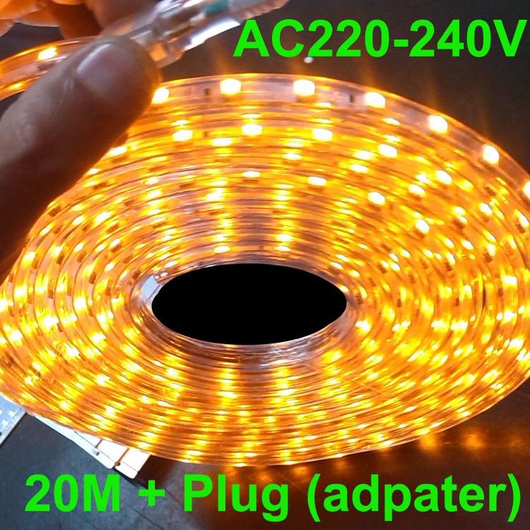 Aliexpress.com : Buy led rope light 20m led strip light 220v AC220V 230V 240VSMD 5050smd +Power ...