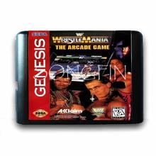 Wrestle Mania аркадная игра 16 бит MD карта памяти для sega Mega Drive 2 для sega Genesis Megadrive