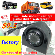 3 inch plastic side mounted car camera high-definition ccd sony600TVL/700TVL/AHD720P/960P/1080P truck outdoor waterproof factory
