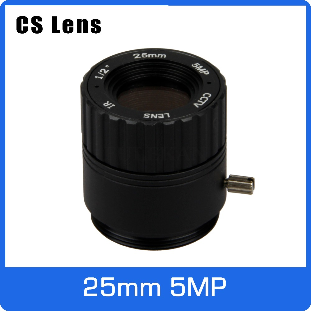 5Megapixel 25mm CS Mount 1/2 inch CCTV Lens Long Distance View For HD 1080P/4MP/5MP AHD/IP Camera Box/Explosion Proof Camera new cctv lens 1 2 5 inch 6 22mm 5mp m12 mount varifocal lens f1 6 for 4mp 5mp cmos ccd sensor security ip ahd camera