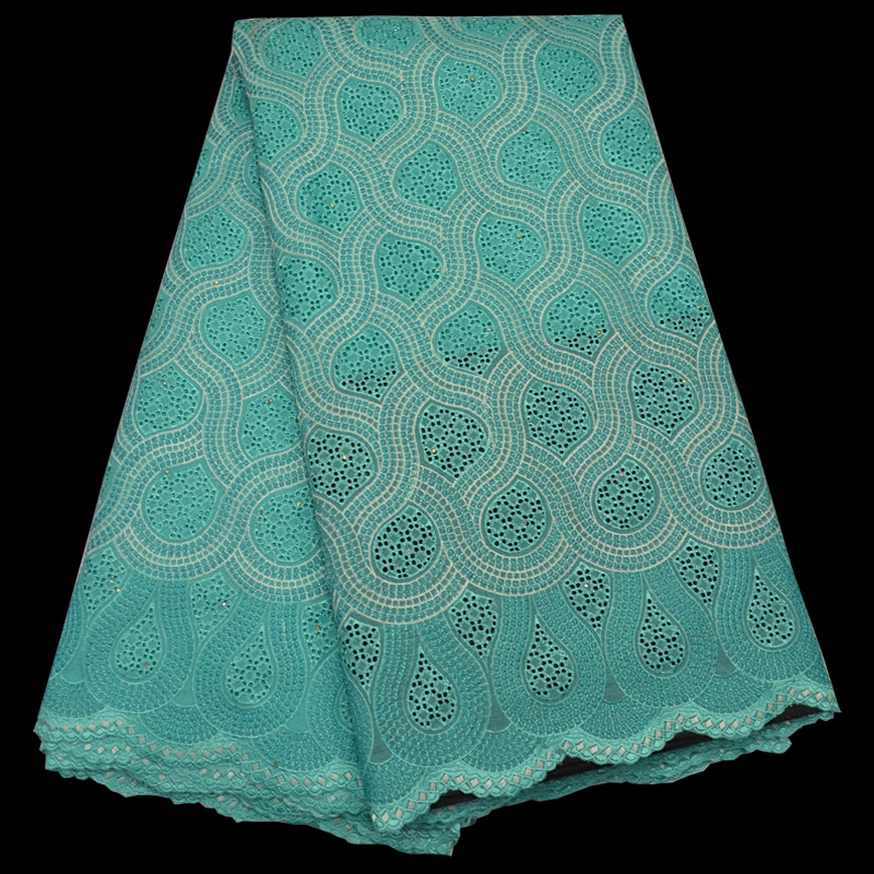 Free shipping (5yards/pc) latest design African cotton lace fabric in mint green Swiss lace fabric for party dress CLP62Free shipping (5yards/pc) latest design African cotton lace fabric in mint green Swiss lace fabric for party dress CLP62