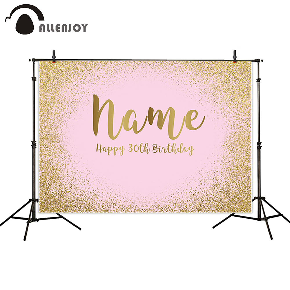 Allenjoy photocall backgrounds portrait door pink shimmer golden sands pastel birthday celebration photo backdrop fotografica(China)