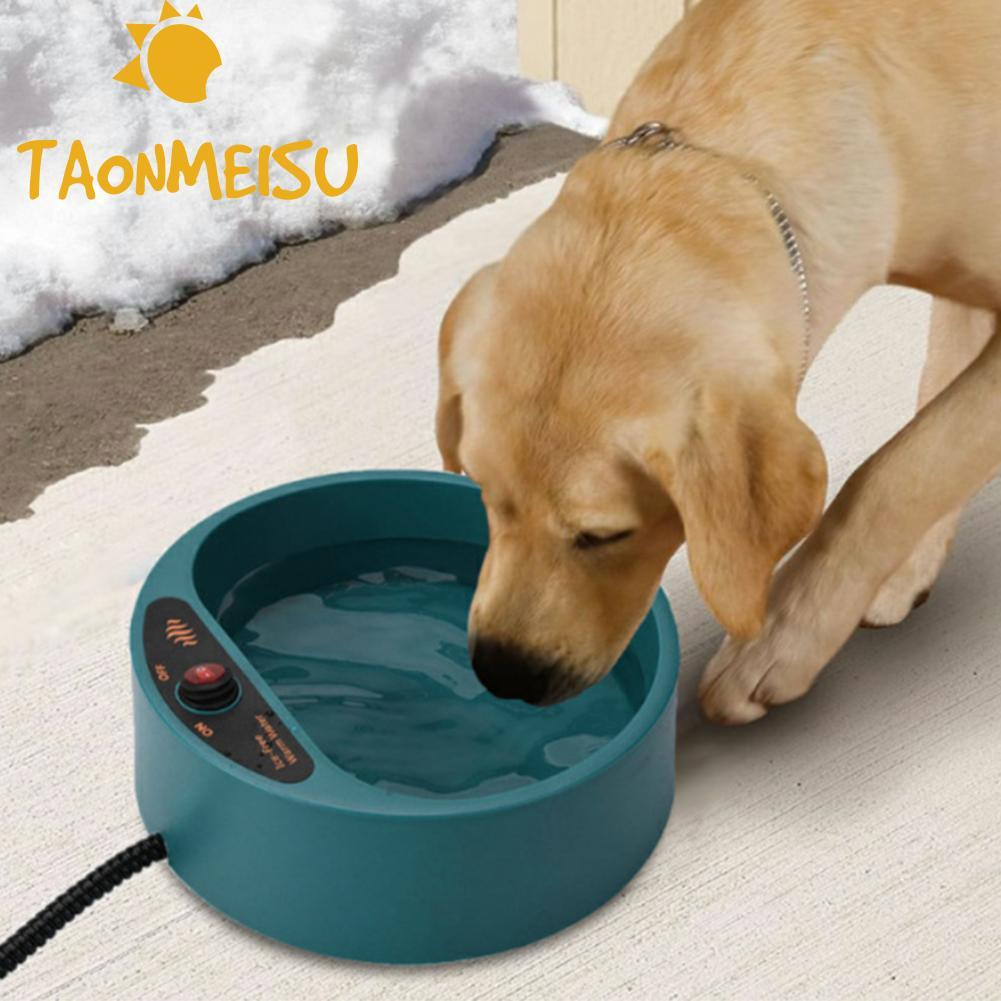 Dog Cat Pet Electronic Heated Water Bowl Dish Outdoor Thermal Water Feeder Heater safe Feed Cage Bowl Container