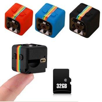 Mini Kamera SQ11 1080 P Spor DV Mini Kızılötesi Gece Görüş Monitör Gizli Mini Kamera HD DV video Kaydedici Destek TF kart