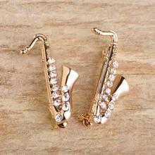 Saxophone Brooch Pins