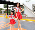 Matching Mother and Daughter Clothes Dress Plus Size M-XXXL Cute Fashion Family Matching Outfits Clothing Retail 2015 MB012