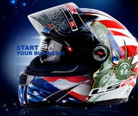 full face motorcycle helmet FF396 double lens Motocross motorbike helmets made of Fiberglass with airbags ECE certification
