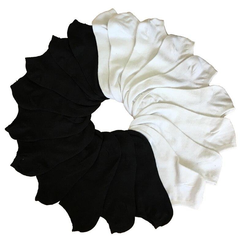 7Pairs/lot Men Cotton   Socks   Summer Thin Breathable   Socks   Men High Quality No Show Boat   Socks   Short Men Meias Sokken Black White