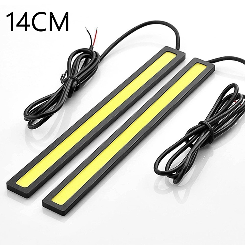 2PCS Auto car <font><b>light</b></font> 14CM 20LED COB DRL daytime running <font><b>lights</b></font> Pathway Lighting Brake Trunk Parking Tail car styling whtie image