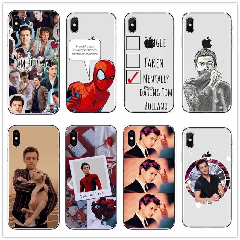 Marvel Spider Man Tom Holland Slim phone case For iPhone X XSMax 8 8plus 7 7plus  6s plus 5s Peter Parker Tom Holland Case Cover