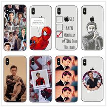 Marvel Spider Man Tom Holland Slim phone case For iPhone X XSMax 8 8plus 7 7plus 6s plus 5s Peter Parker Tom Holland Case Cover(China)
