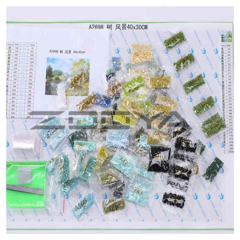 ZOOYA 3D DIY deimantų tapybos peizažas Namų dekoras Rankų - Menai, amatai ir siuvimas - Nuotrauka 2
