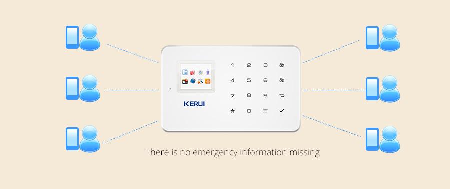 KERUI G18 Wireless Home GSM Security Alarm System DIY Kit APP Control With Auto Dial Motion Detector Sensor Burglar Alarm System 15