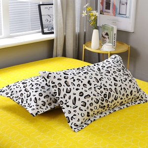 Image 2 - Yellow white Leopard Print Home Bedding Sets Duvet Cover Bed Set Pillowcase Flat Sheet King Queen Double Twin 3/4pcs bed sets