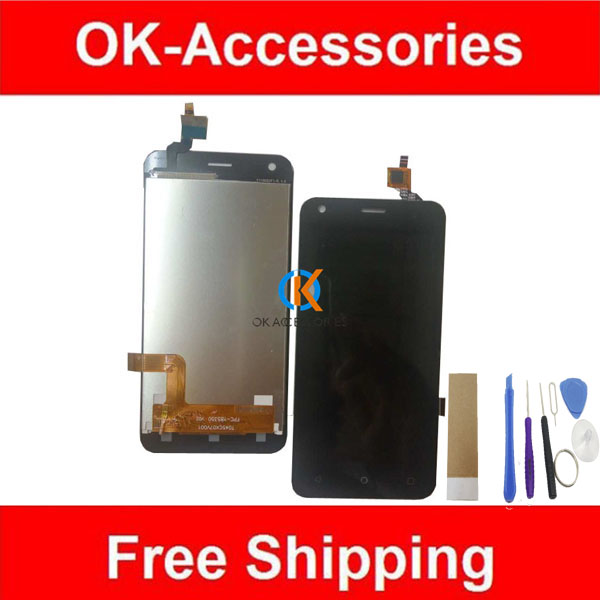 Black White Color For Fly Nimbus 8 FS454 FS455 LCD Display+Touch Screen Digitizer Assembly With Tools Tape 1PC/Lot.