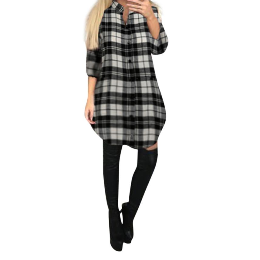 Blouses   Women Plaid   Shirt   Flannel   Shirt   Women Black And Red Ladie Top Chemise Cotton Plaid   Shirt   Women Tops Casual   Blouse     Shirt