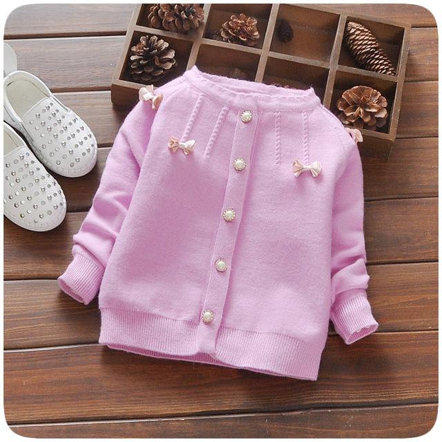 2016new primavera otoño días chaqueta del bebé suéter de algodón ultra-suave de la apertura de la hebilla suéter para niños de 1-3 años envío gratis