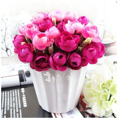 online get cheap fleur roses dans un vase petit -aliexpress