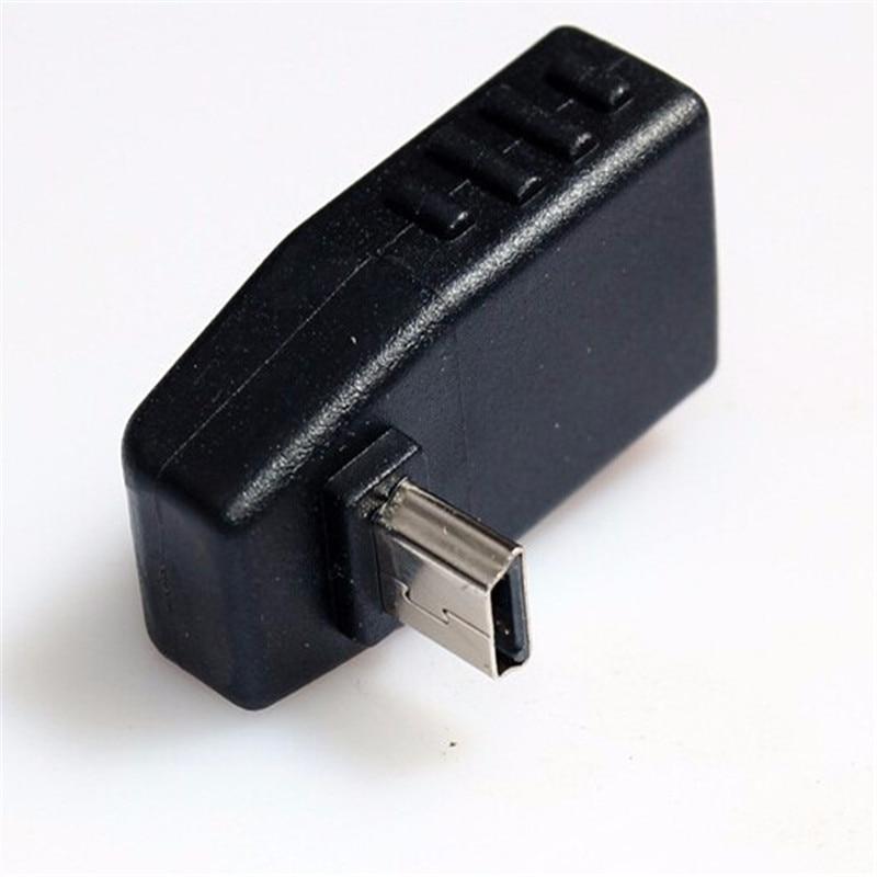 90 Degree Up Down Right Angled Mini USB Type B to USB Female OTG Adapter
