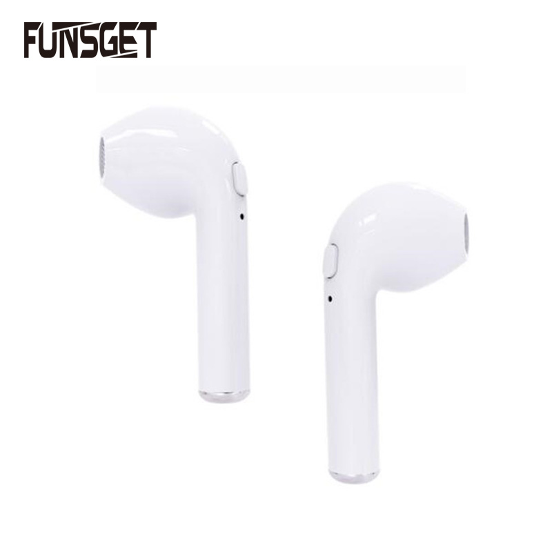 Funsget TWS Twins True Wireless Earphone V4.1 Bluetooth Sports Headset Ear-Hook Earpiece With Mic For iPhone 7/7P Samsung newest mini hbq i7 stereo bluetooth headphones stealth sports headset ear hook earpiece with mic for iphone 7 7p samsung xiaom