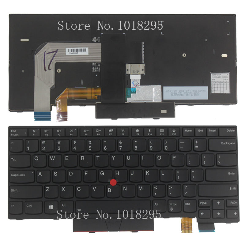 New US for Lenovo IBM ThinkPad T470 US Backlit laptop keyboard back new us keyboard for acer aspire vn7 793g vx5 591g vx5 591g 52wn us laptop keyboard with backlit