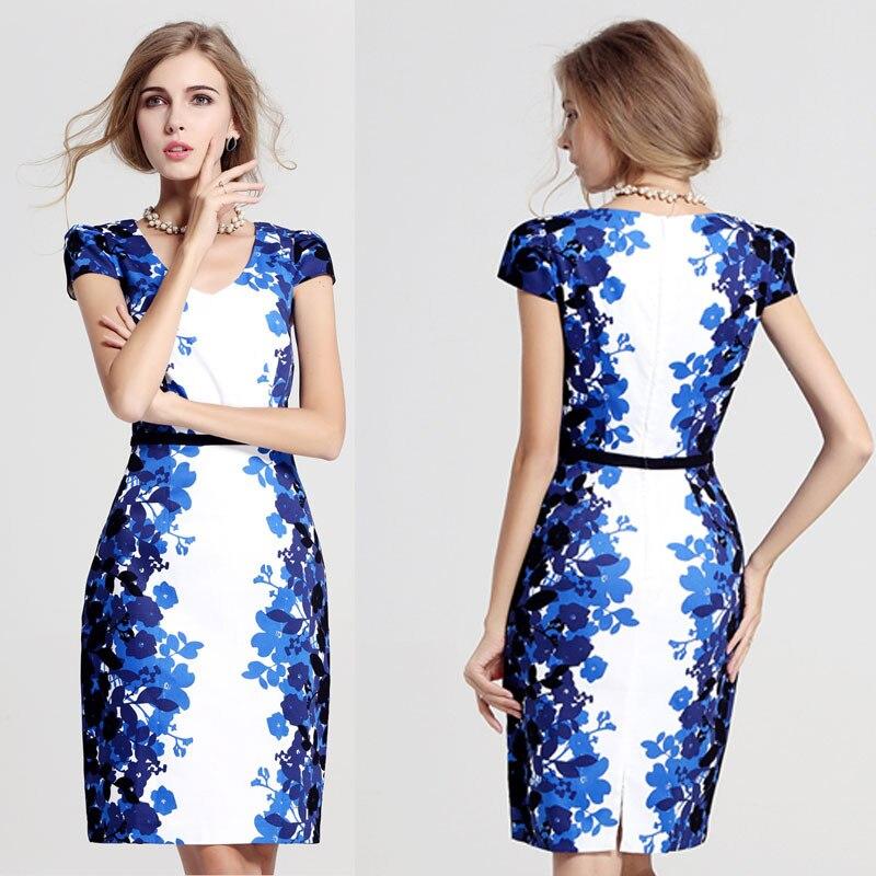 One Piece Dress Print Work Wear Plus Size Fashion One Piece Women
