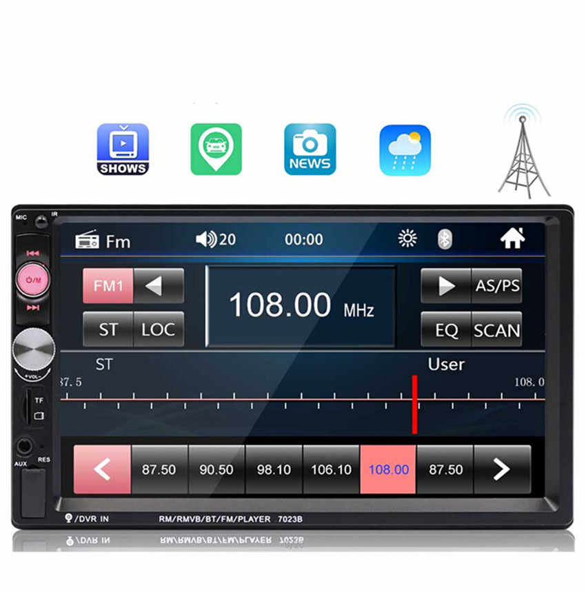"""タッチスクリーンデジタルディスプレイの Bluetooth 2 喧騒車のラジオ 7 """"HD プレーヤー MP5 マルチメディア USB 2din Autoradio 車のバックアップモニター DVD"""