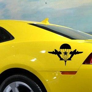 Image 2 - SLIVERYSEA автомобильные наклейки индивидуальные украшения для автомобиля, армия, веер, военный, русский, воздушная, Виниловая наклейка для автомобиля