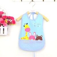 Baby Bibs Kids Saliva Towel Waterproof Lunch Bibs For Feeding Bavaglini Neonato PVC Plastic Cartoon Baby