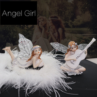 Luxury Car Ornament Crystal Diamond Cute Angel Girls Perfume Ornament Automobiles Interior Dashboard Swing For Women
