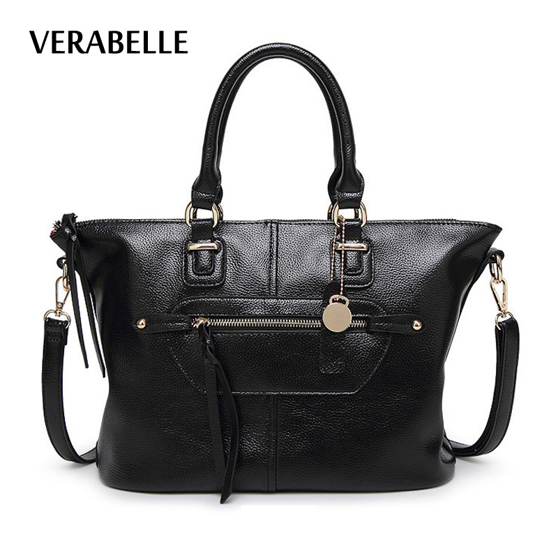 VERABELLE 2018 PU leather women shoulder totes purses and ...
