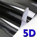 High Quality 5D Carbon Fiber Car Body Film Vinyl Self Adhesive Wrap Sticker Decal Air Release Black Automotive Accessories