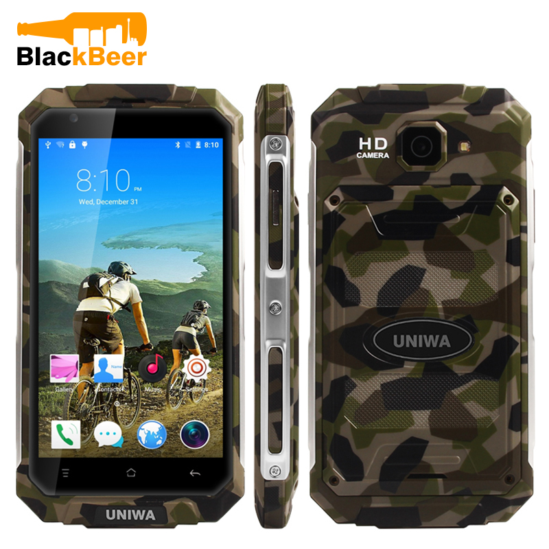 Original UNIWA V9+ 3G SmartPhone MT6580M Quad Core Android 5.1 Touch Screen Big Battery Mobile Phone 5.0 Cellphone