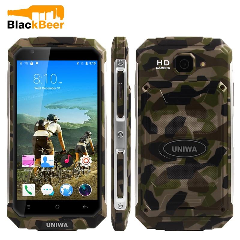 Original UNIWA V9 + 3G teléfono inteligente MT6580M Quad Core Android 5,1 pantalla táctil Batería grande teléfono móvil 5,0