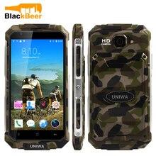 """Original uniwa v9 + 3g smartphone mt6580m quad core android 5.1 tela de toque grande bateria telefone móvel 5.0 """"celular"""