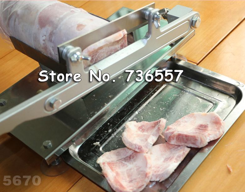 Fast Free Shipping Stainless Steel Manual Frozen Meat Slicer Handle Vegetable Slicing Mutton Rolls Cutter Slicer Cutting Machine