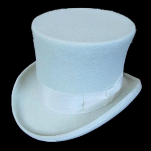 15 cm (5.89 pollici) 100% Feltro di Lana Fedora Presidente Cappello  Cappelli 100% Lana cappello a cilindro 15 cm di alta corona Per Le Donne  degli uomini ... ecfd2bcdcc44