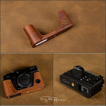 [VR] бренд ручной работы натуральная кожа Камера чехол для Fujifilm XPro 2 XPro Mark II Камера мешок Половина крышка кузова ручка Винтаж случае