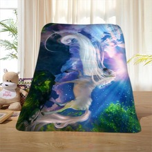 P#132 Custom Horse#41 Home Decoration Bedroom Supplies Soft Blanket size 58×80,50X60,40X50inch SQ01016@H+132