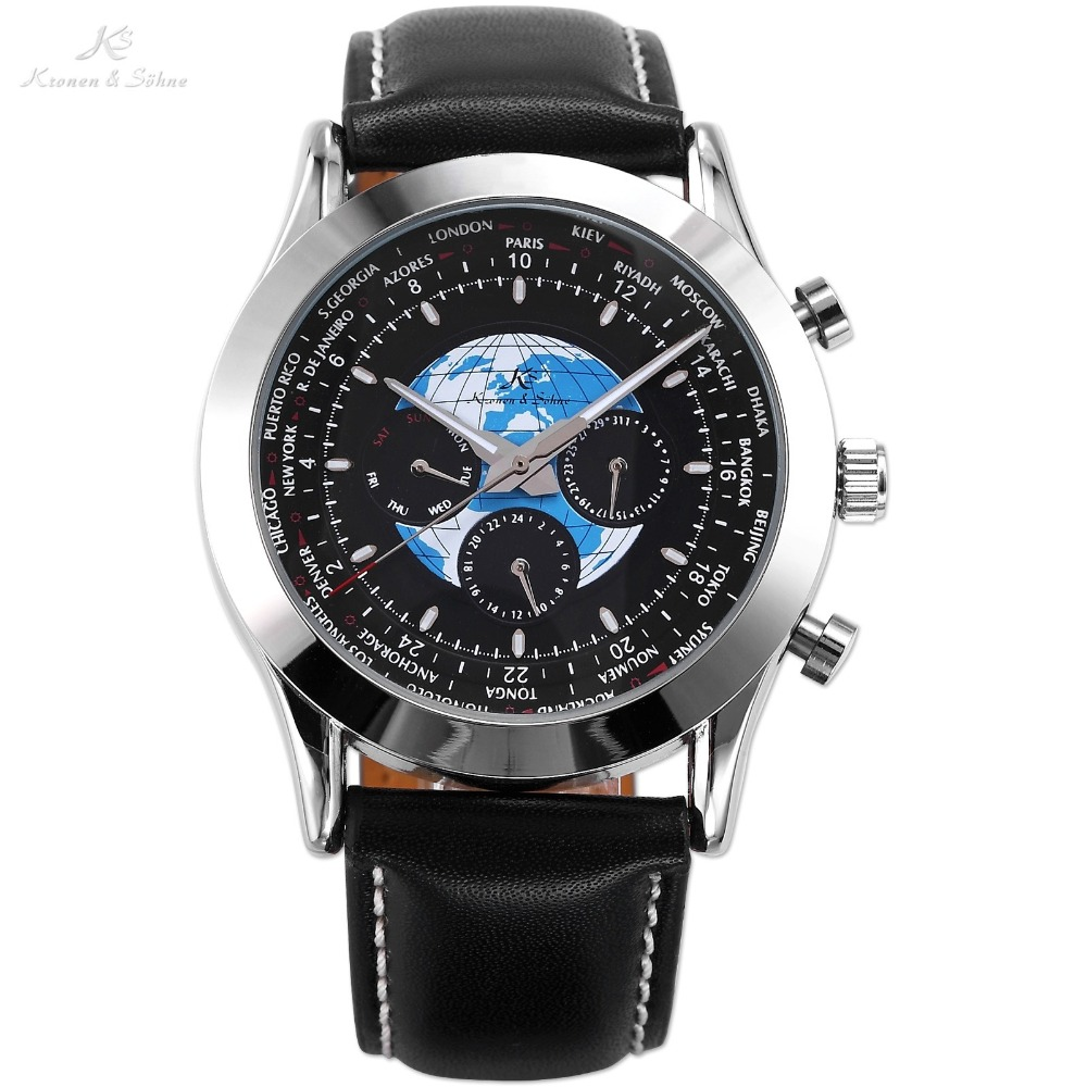 Ks Transocean Luxury Automatic Mechanical Day Date 24 Hours Genuine Leather Strap Relojes Mens Business Dress Wrist Watch /KS088 breitling transocean chronograph ab015212 ba99 435x