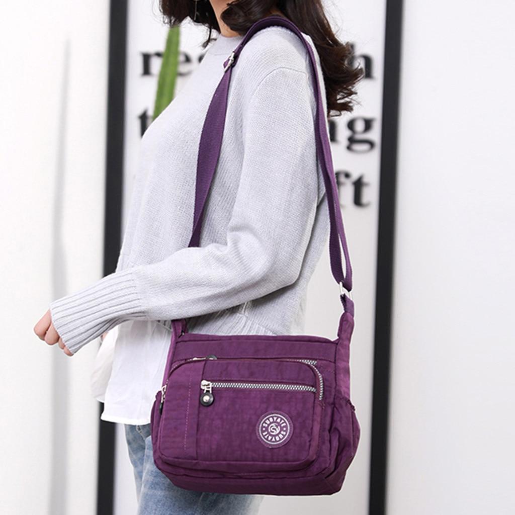 Fashion Shoulder Bags For Women Designer Waterproof Nylon Handbag Zipper Purses Messenger Crossbody Bag Bolsa Feminina S
