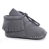 Suede Leather Baby Boy Girl Baby Moccasins Soft Moccs Shoes Bebe Fringe Soft Soled Non Slip