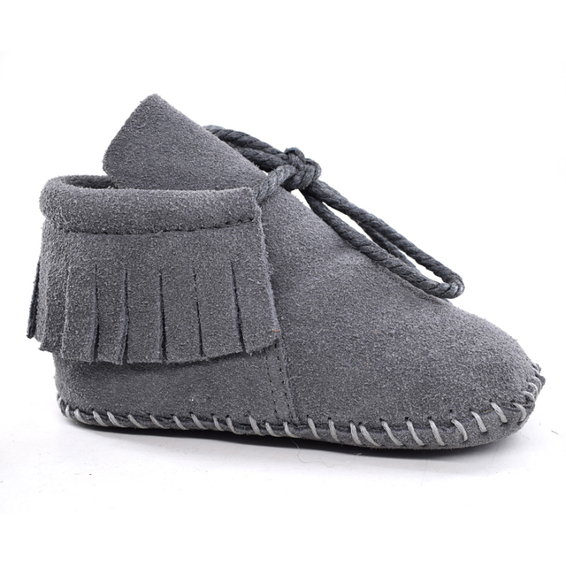 Suede Leather Baby Boy Girl Baby Moccasins Soft Moccs Shoes Bebe Fringe Soft Soled Non-slip Footwear Crib Shoes New