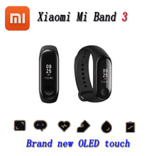מקורי Xiaomi Mi Band 3 Smart Wristband צמיד כושר MiBand Band 3 מסך מגע גדול OLED הודעה קצב הלב Smartband