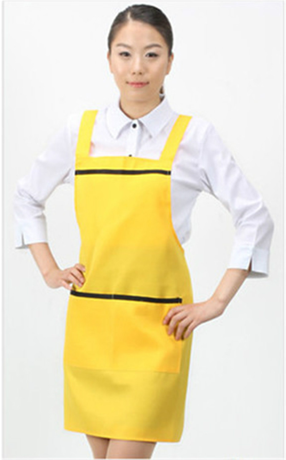 White apron cafe - Aliexpress Com Buy Free Shipping For White Kitchen Accessories Apron Japan Cooking Cafe Aprons Korean Gifts For Women Chef Hotels Nail Aprons From