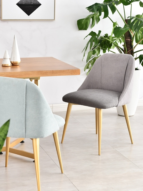 Louis Fashion Dining Chairs Household Modern Simple Backrest Leisure Cafe 1