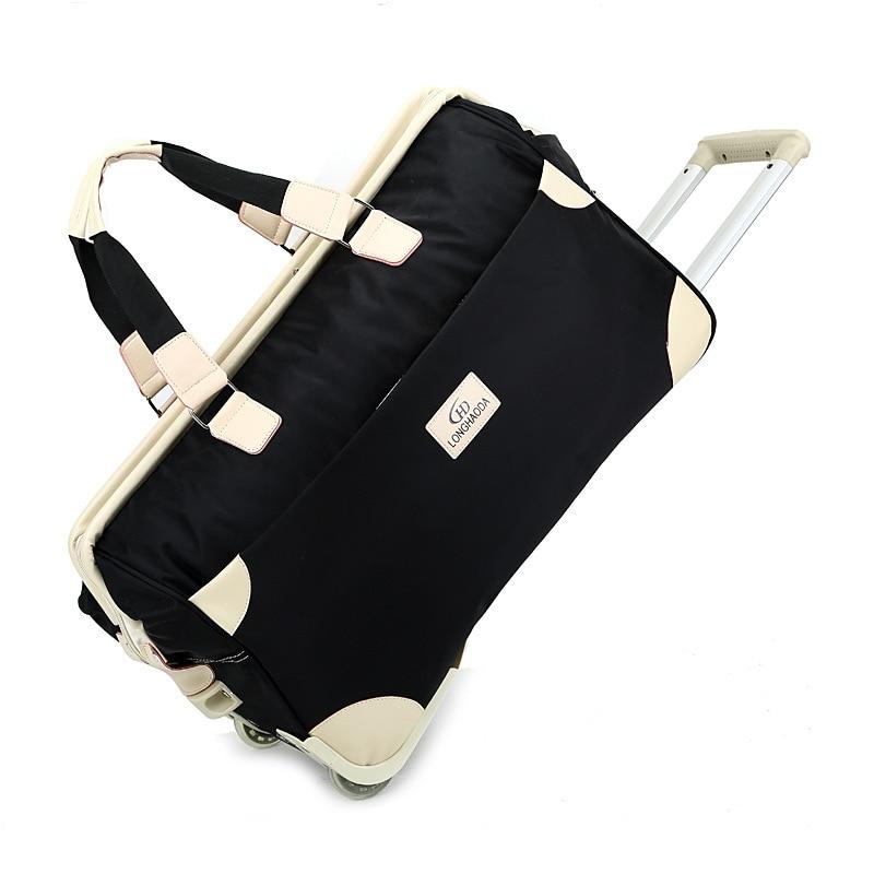 Новый Водонепроницаемый дорожная сумка Для мужчин сумка тележка большой Ёмкость Оксфорд вещевой мешок унисекс вести Чемодан сумка Сумки н... ...